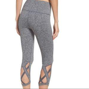 Zella High Waist Camila Crop Leggings Grey sz SM